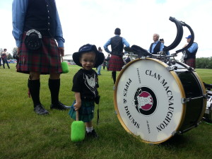 Our future drum major (Edmonton Highland Games in 2013)